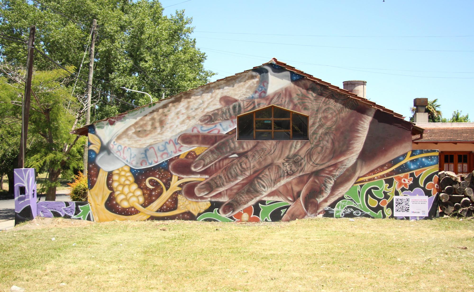 #Encontrarenlascalles, mural inspirado en la historia del emprendimiento Mamam